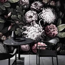 Dark Floral Wallpaper ...