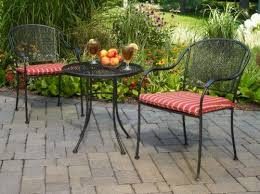 mainstays wrought iron bistro set with