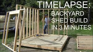 How To Design And Build A Shed Complete Backyard Shed Build In 3 Minutes Icreatables Shed Plans