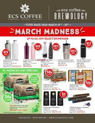 March Madness Flyer Ecs Coffee Flyer March 15 To 25