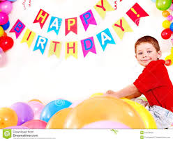 Child Birthday Child Birthday Party With Boy Stock Photo Image Of Little