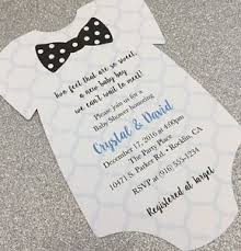 Onesie Baby Shower Invitations 20 Baby Boy With Polka Dot Bow Tie Onesie Baby Shower Invitation Ebay