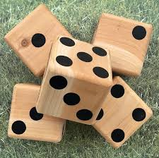 Wooden Lawn Games Yard Dice Yardzee Outdoor Game Large Wood Dice Tailgating 56