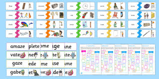 Say a sound and children identify the correct letter(s) by circling/colouring. Magic E Split Diagraph Resources Teacher Made