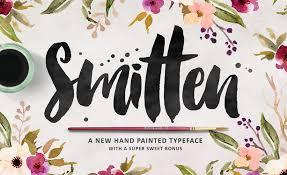 love this brushy font smitten script bonuses by makeaco on creative market