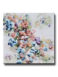 giclee print art abstract floral painting colorful navy blue white pink flowers sweetpea wall decor on pink and gold floral wall art with giclee print art abstract floral painting colorful flowers blue