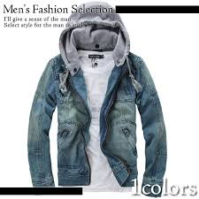 casual design denim jacket mens long sleeve jacket parka coat winter fall casual fashion brother
