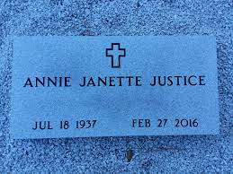 Annie Janette Dykes Justice (1937-2016) - Find A Grave Memorial