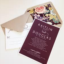 Vintage Floral Wedding Invitation Burgundy Kraft Envelope