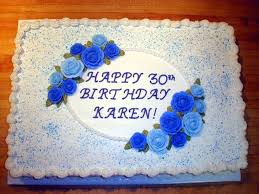30th Birthday Half Sheet Cake Cakecentralcom