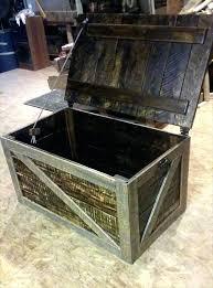 pallet trunk toy box storage chest furniture diy deck plans