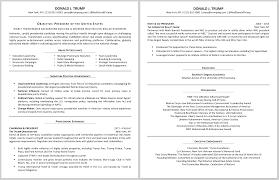 Bfebcdcb Design Inspiration Donald Trump Resume Resume Models