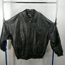 pelle pelle black genuine leather jacket mens size