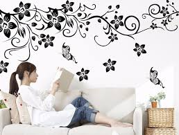 hot diy wall art decal decoration fashion romantic flower wall sticker wall stickers home decor 3d wallpaper free shipping on wall art images home decor with hot diy wall art decal decoration fashion romantic flower wall