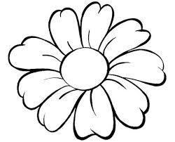 Disegno Di Un Grande Fiore Da Stampare Gratis E Da Colorare Per