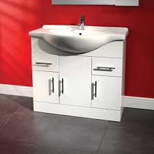 gloss white bathroom cabinet doors. a large luxury basin unit finished in white gloss. the comes complete with ceramic and includes 3 cupboard doors 2 drawers. gloss bathroom cabinet
