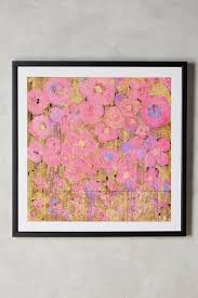 on pink and gold floral wall art with pink gold roses wall art
