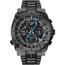 "bulova watches men s ladies bulova watch shop comâ""¢ mens bulova precisionist chronograph watch 98g229"