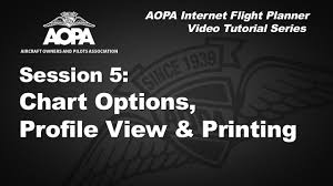 Aopa Charts Aopa Flight Planner Video 5 Chart Options Profile View And Printing