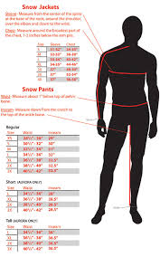 Fly Racing Snow Gear Size Chart