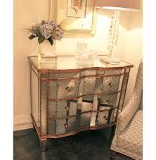 hollywood regency mirrored furniture. Mirrored Furniture With Gold Trim Aubrey Hollywood Regency Silver Leaf Mirror Chest Dresser \u2013