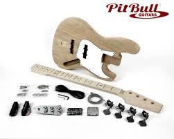 pit bull guitars jba 4m electric bass guitar kit ash