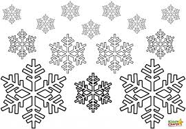 Small Picture Snowflake Coloring Pages