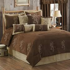 browning buckmark embroidered suede bedding
