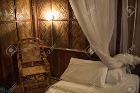 Rural Stil Schlafzimmer Mit Himmelbett Lizenzfreie Fotos Bilder Und