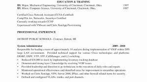 Resume Network Engineer Sample Cisco Objective Entry Level Pdf