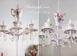 a new teacup chandelier finished for a client who recently moved and this will be her third one of ours happy about that and love our repeat clients