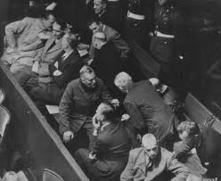 international military tribunal the defendants photograph the defendants box at the nuremberg trial hermann goring is seated at the far