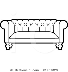 couch clipart black and white. royalty-free (rf) couch clipart illustration #1239029 by lal perera black and white