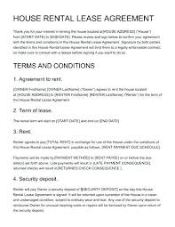 house rental agreement sample home rental contract template