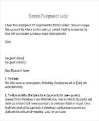 Resignation Letter Church Position Sample Membership Resignation Letter 5 Examples In Pdf Word