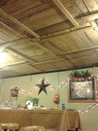 DIY Basement Ceiling with Old Pallet Crate Lids