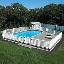 semi inground pool reviews semi above ground pool nice alternative to spending on an pool doughboy