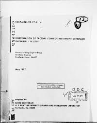 Investigation of Factors Controlling Engine Scheduled Overhaul - T53 ...