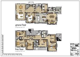 floor plan with furniture. two story floor plan with furniture
