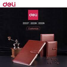 Deli Classic High Quality Soft Pu Leather B5 A5 A6 Notebook