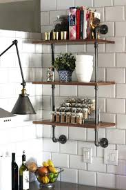 diy kitchen shelves wood and plumbing pipe shelving unit that could become your next kitchen project diy kitchen shelves