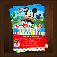 mickey mouse party invitation sample mickey mouse invitation template 13 download