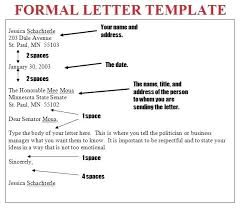 All Types Of Letter Format Pdf How To Write A Business Letter Sample Format Type Types Of