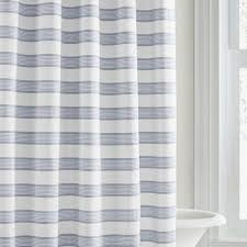 Vera Wang Linear Blue Stripe Shower Curtain Free Shipping Today Gold And White Striped Shower Curtain