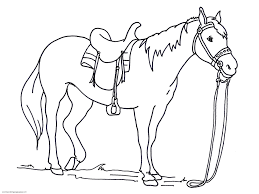 Small Picture Horse Coloring Pages Printable For Kids Download 7132