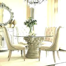 circle glass dining table kuchniauani and chairs