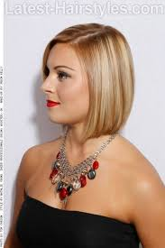 graduated short bob hairstyle with side part side