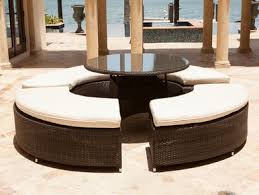 brown set patio source outdoor. Source Outdoor Circa Round Wicker Sectional Dining Bench Set. Image 1 Brown Set Patio V