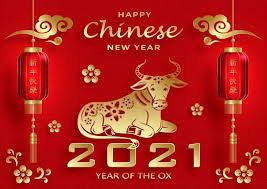 Happy chinese new year 2021 with gold head ox zodiac sign on red chinese culture texture background vector design. Chinese New Year 2021 Wallpaper Happy Year Of Ox 2021 Cow Bull In 2021 Chinese New Year Chinese New Year Images Chinese New Year Wallpaper