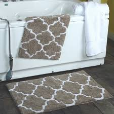 gray bathroom rugs grey and white bathroom rugs new 2 piece moroccan trellis 100 percent